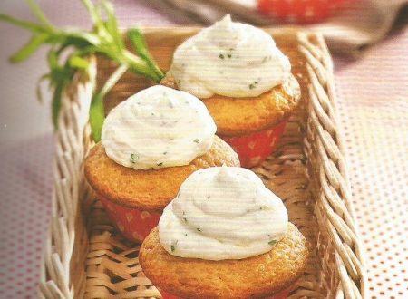 Cupcakes all'arancia con crema di dragoncello