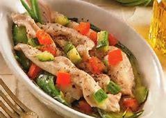 Cappone marinato con zucchine