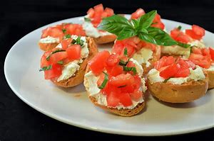 Appetizer of cheese and tomatoes