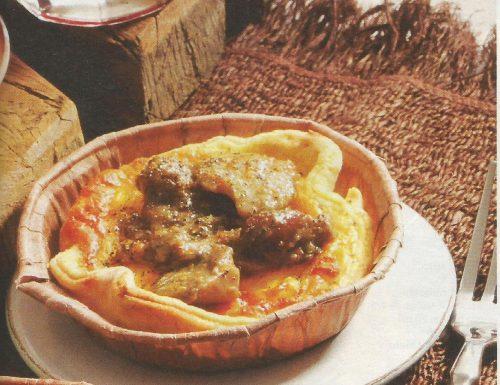 Tartellette ai funghi e gorgonzola