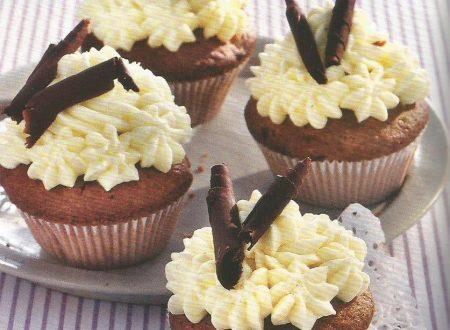 Cupcakes al cioccolato con liquore