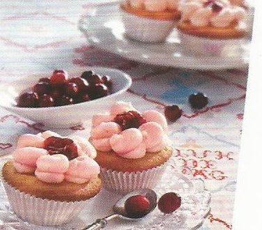 Cupcakes ai mirtilli rossi