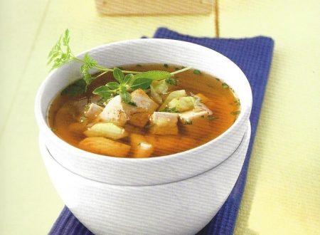 Zuppa di pesce con tofu