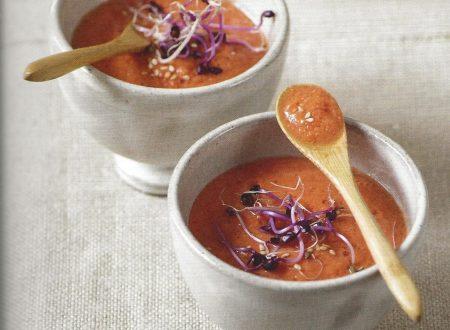 Zuppetta cruda di pomodori e peperoni