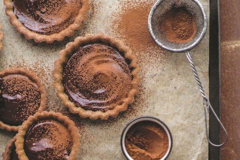Tartellette di farro con ganache al cioccolato