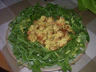 Petto di pollo alla senape, con rucola