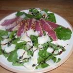 Tagliata rucola parmigiano e aceto balsamico