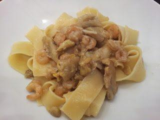 Pappardelle carciofi e gamberetti
