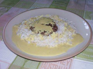 Riso e Hamburgher piccanti in salsa di Senape (da Tokoriki)