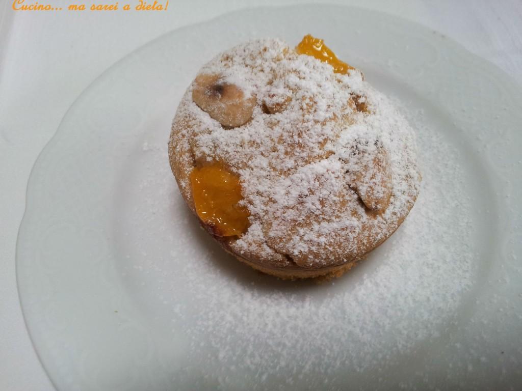 Muffin integrali mandorle e pesche