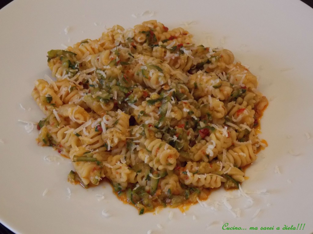 Pasta zucchine e 'nduja
