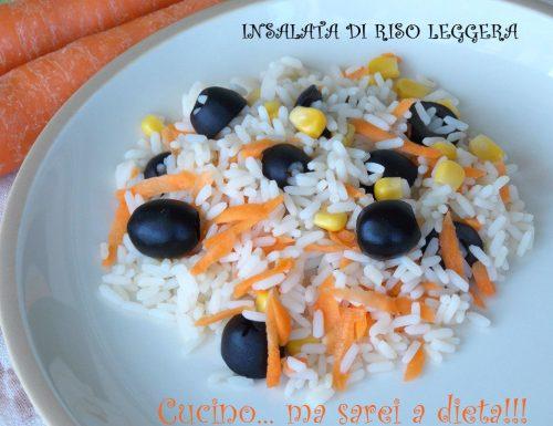 Insalata di riso leggera e vegetariana