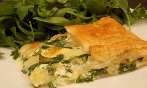 Torta salata rucola e fontina