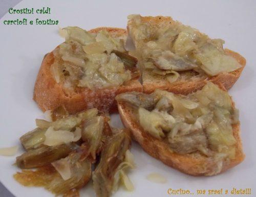 Crostini carciofi e fontina