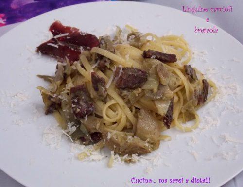 Linguine carciofi e bresaola