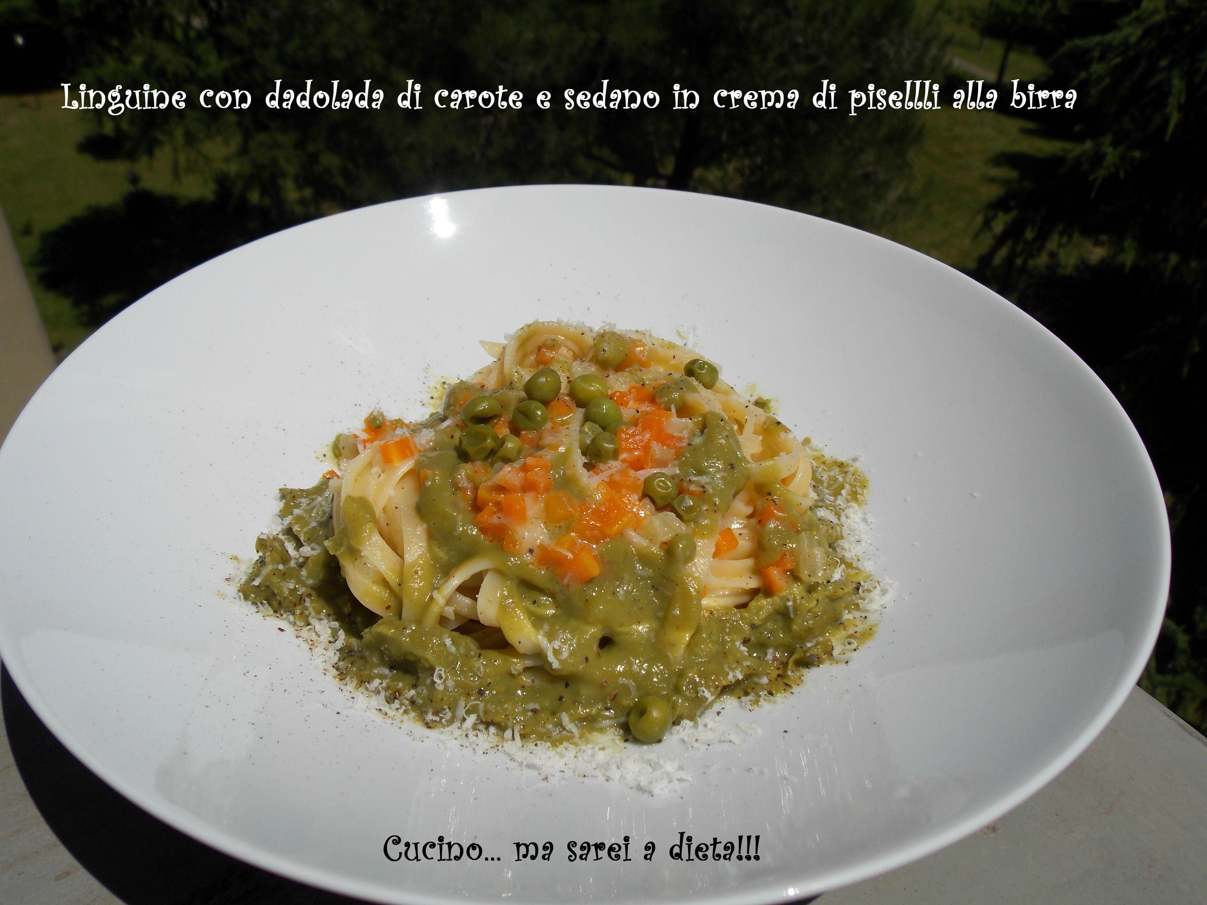 Linguine carote e piselli1