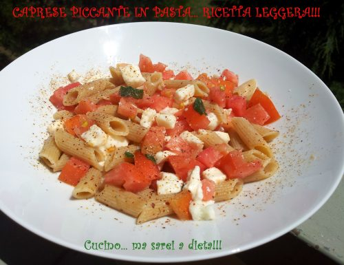 Caprese in pasta