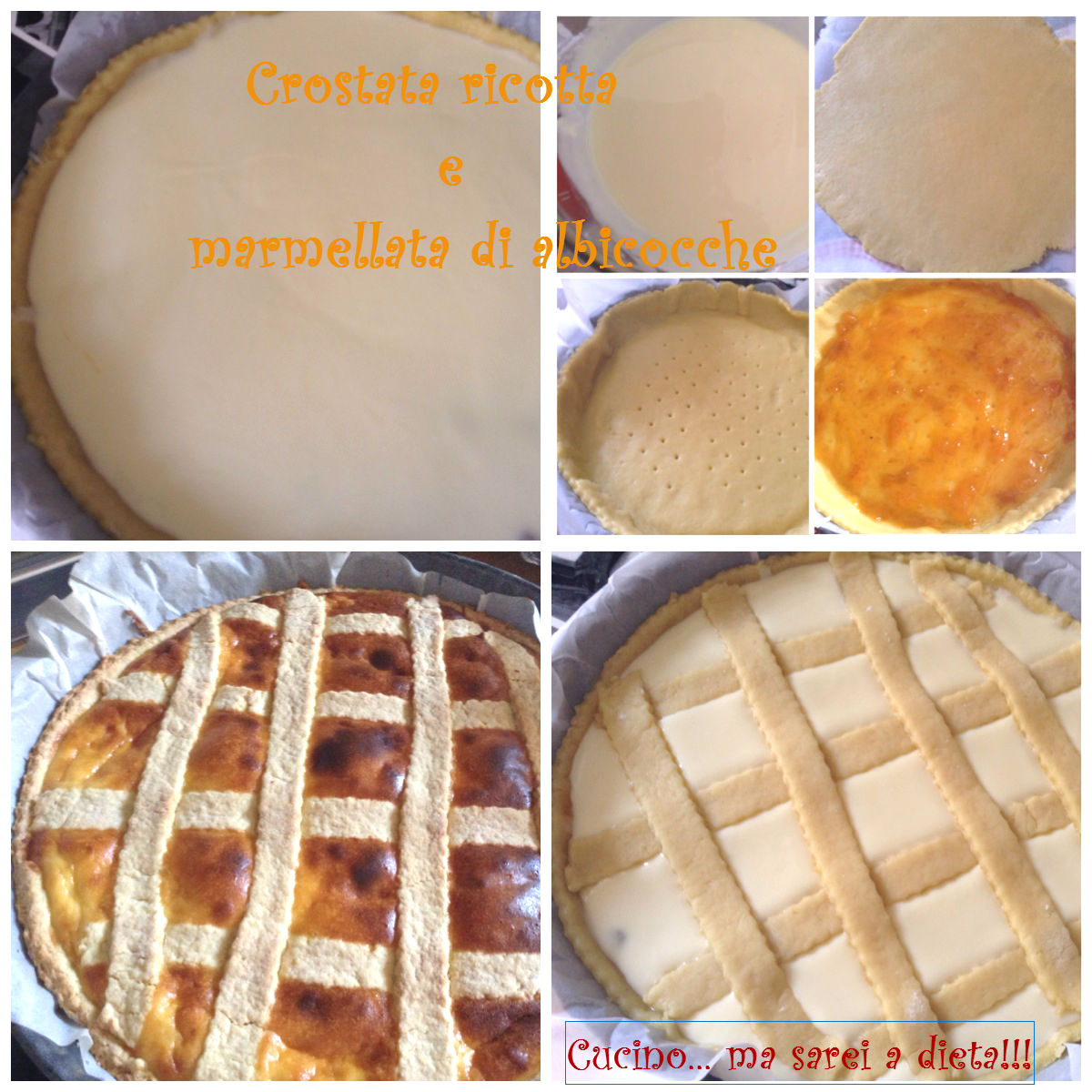 Crostata ricotta e marmellata
