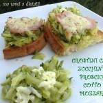 crostini zucchine cotto e mozzarella