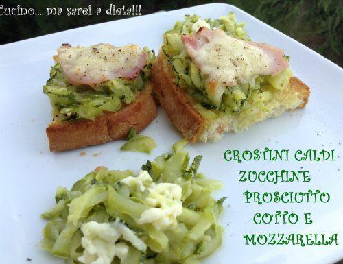 Crostini zucchine cotto