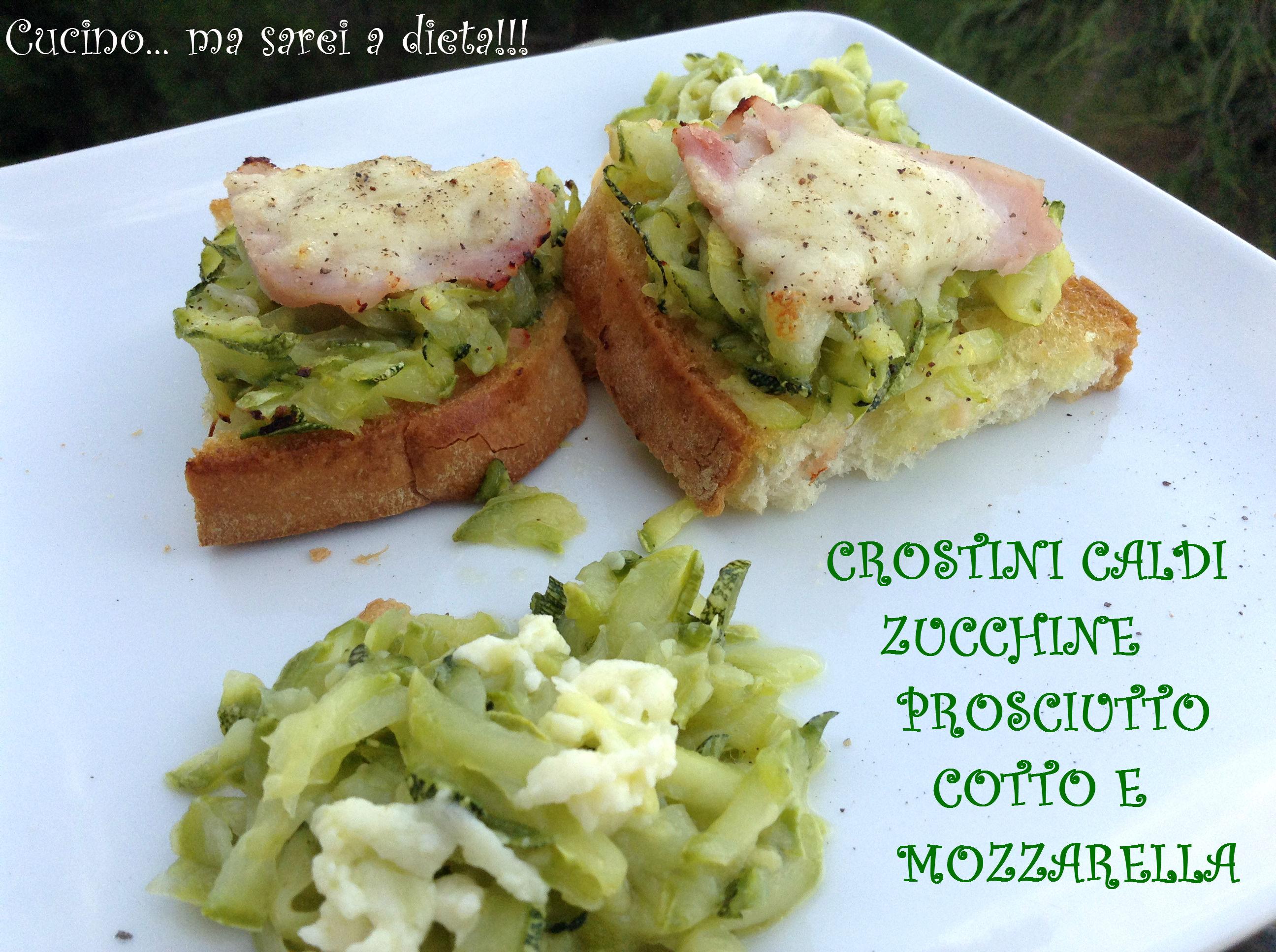 Crostini con le zucchine