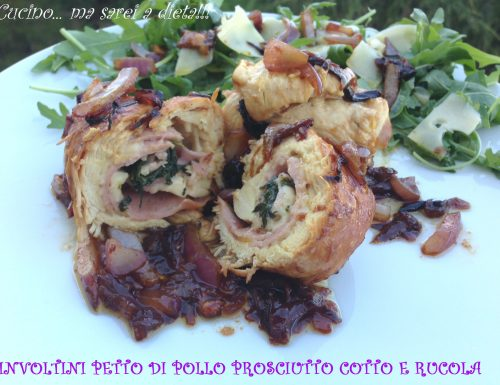 Involtini di pollo cotto rucola