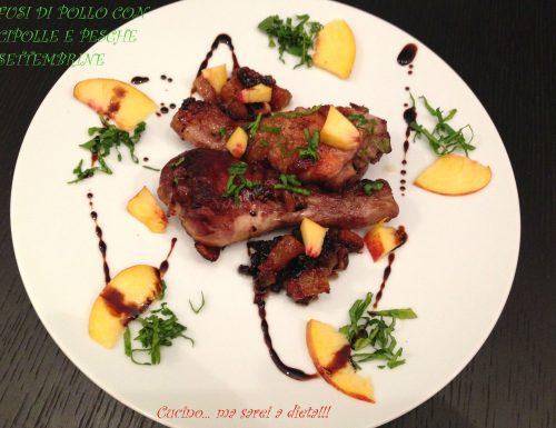 Fusi di pollo e pesche settembrine