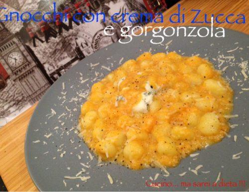 Gnocchi con crema di zucca e gorgonzola
