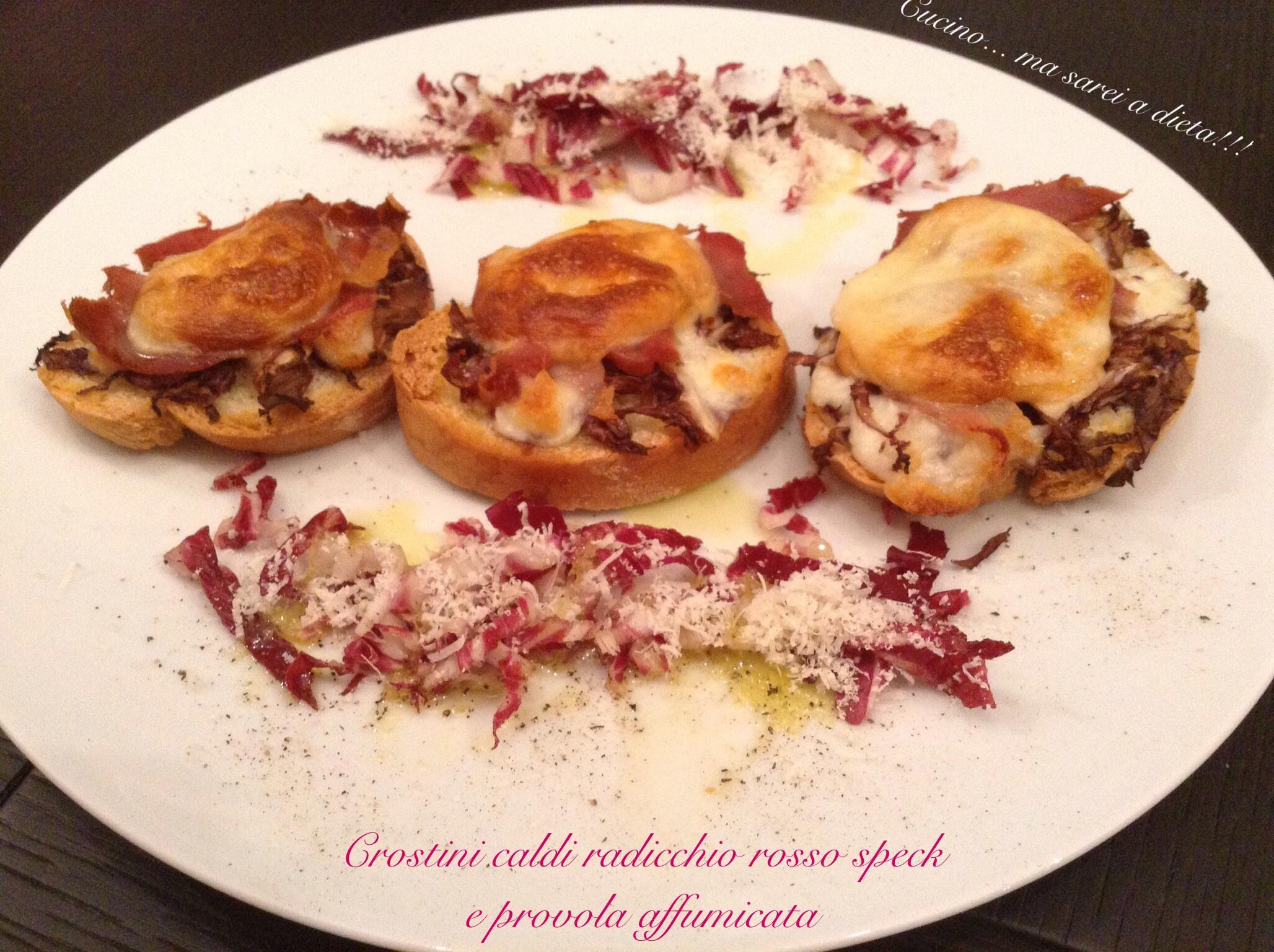 Crostini caldi con radicchio rosso