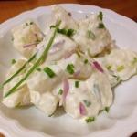 insalata di patate e erba cipollina