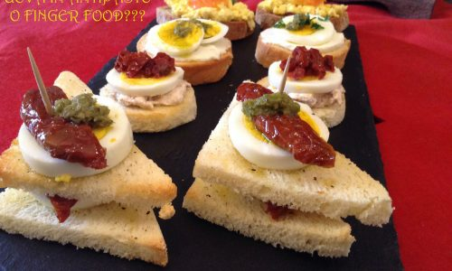 Uova in antipasto o finger food?