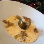 Soufflè di carciofi con fonduta