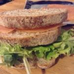 Tramezzino light  salmone e lattuga