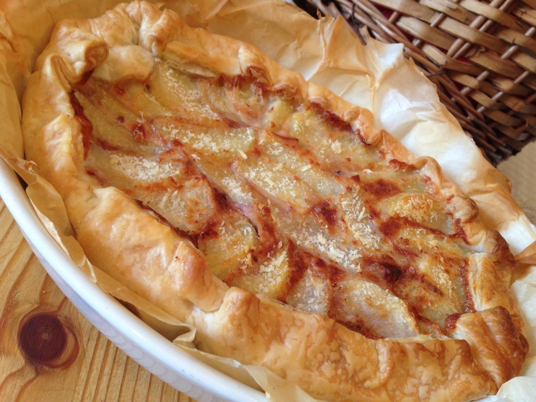 Torta salata radicchio e patate