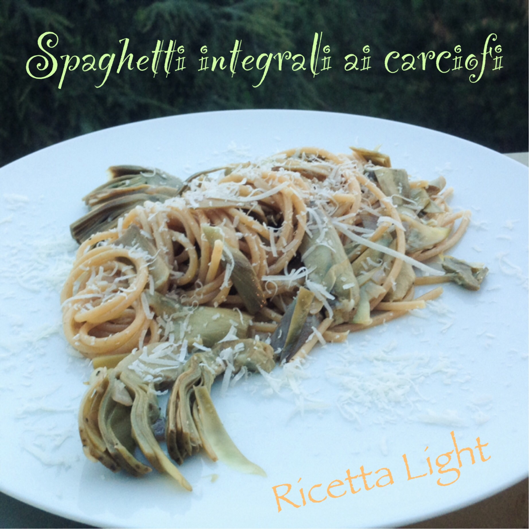 Spaghetti integrali ai carciofi
