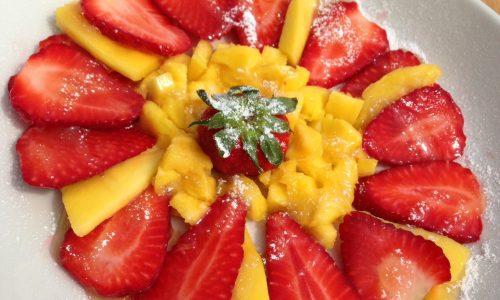 Fragole e mango in salsa di limone | no latte no uova