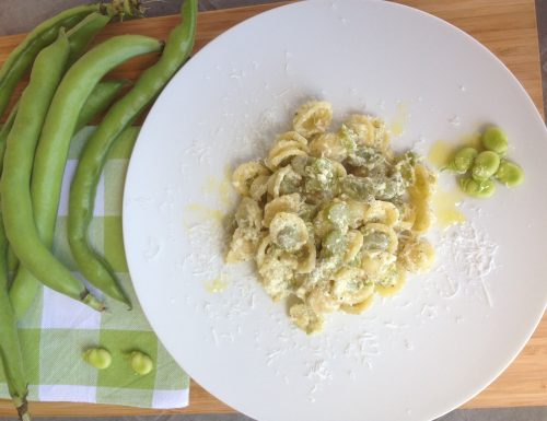 Orecchiette baccelli asparagi ricotta