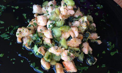 Salmone e zucchine