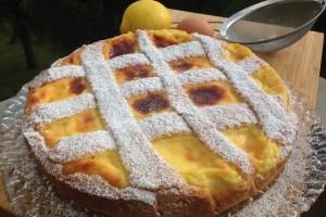 Crostata con crema pasticciera e ricotta