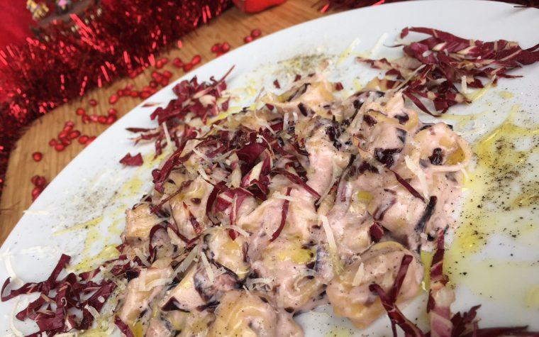 Tortellini radicchio rosso in crema di philadelphia e gorgonzola