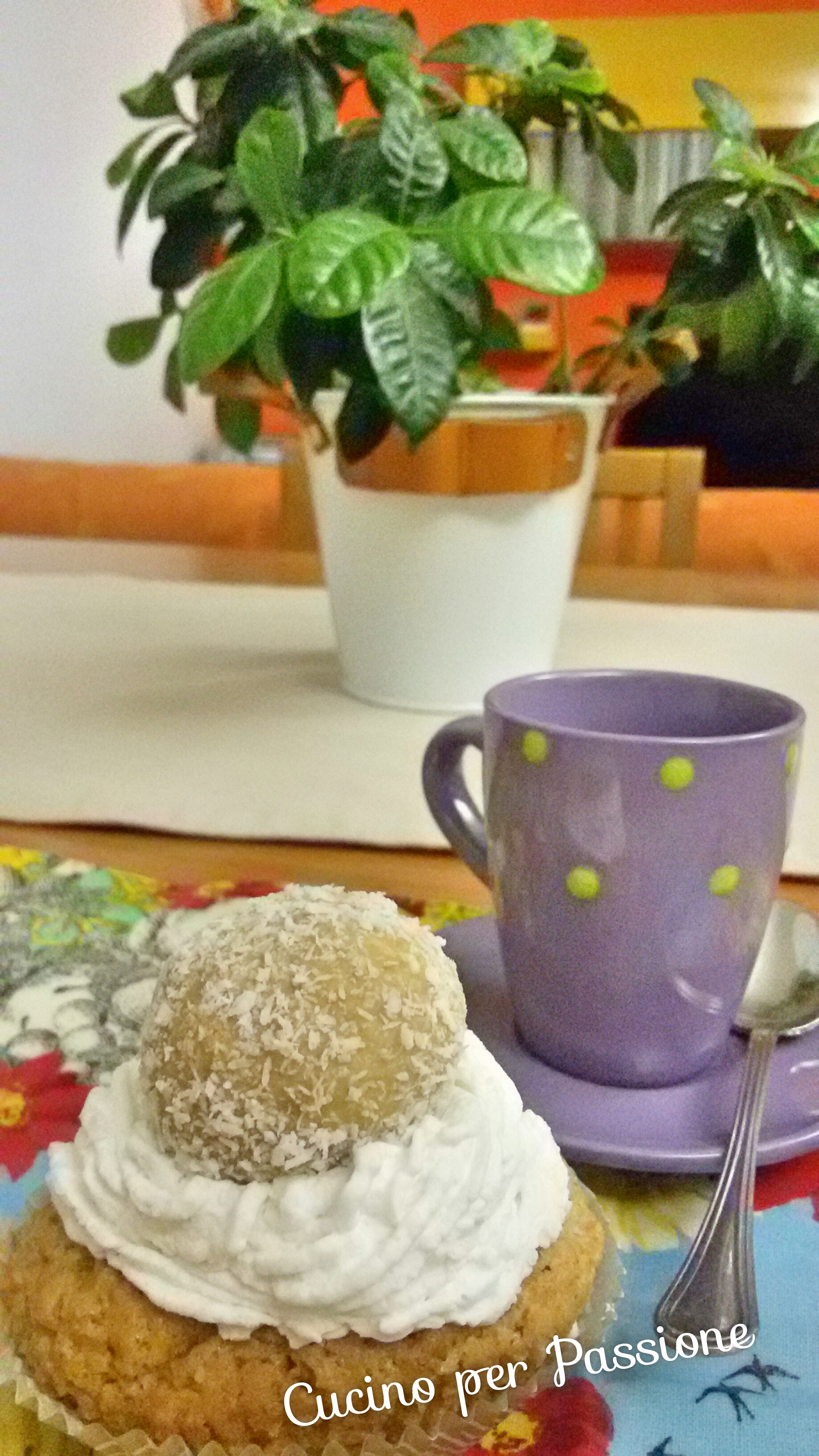 Cupcake Raffaello vegano