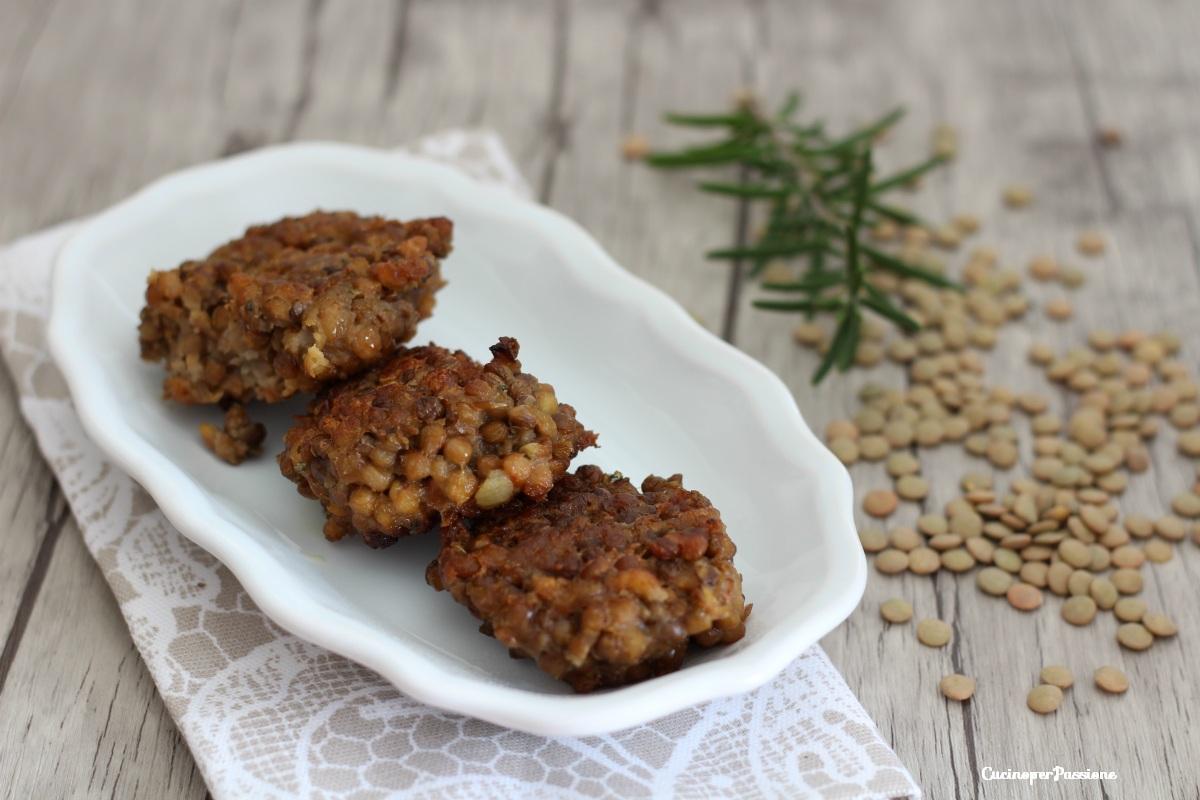 Polpette di lenticchie ricetta con verdure