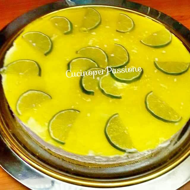 Torta fredda allo yogurt di soia al limone
