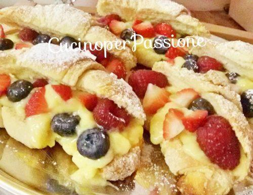 Croissant vegani con crema limoncello