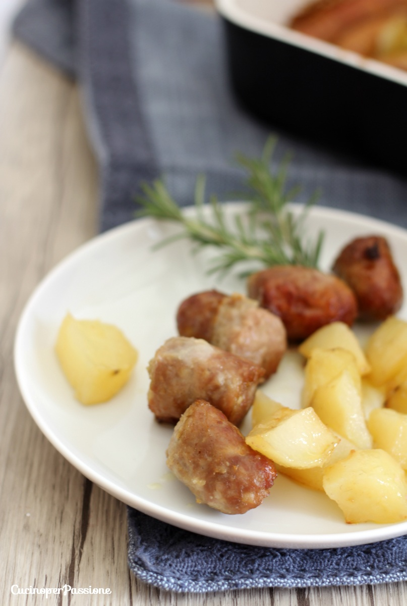 patate al forno con salsiccia 1