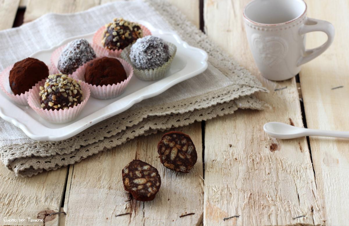Tartufini di cioccolato fondente