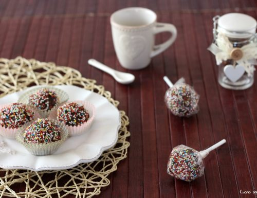 Palline di cioccolato fondente