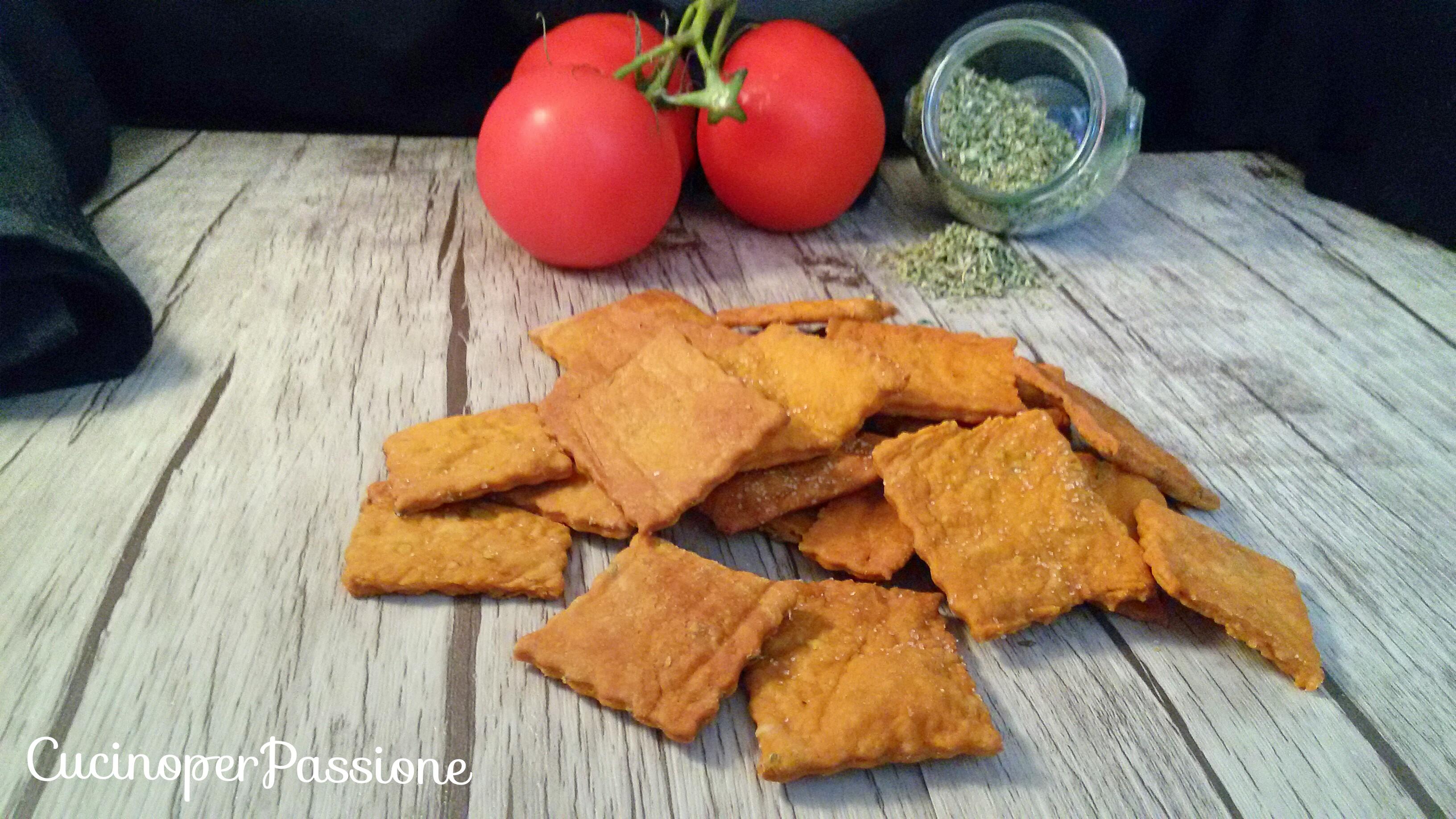 Ricetta crackers alla pizzaiola