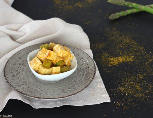 Tofu ricetta con asparagi e spezie