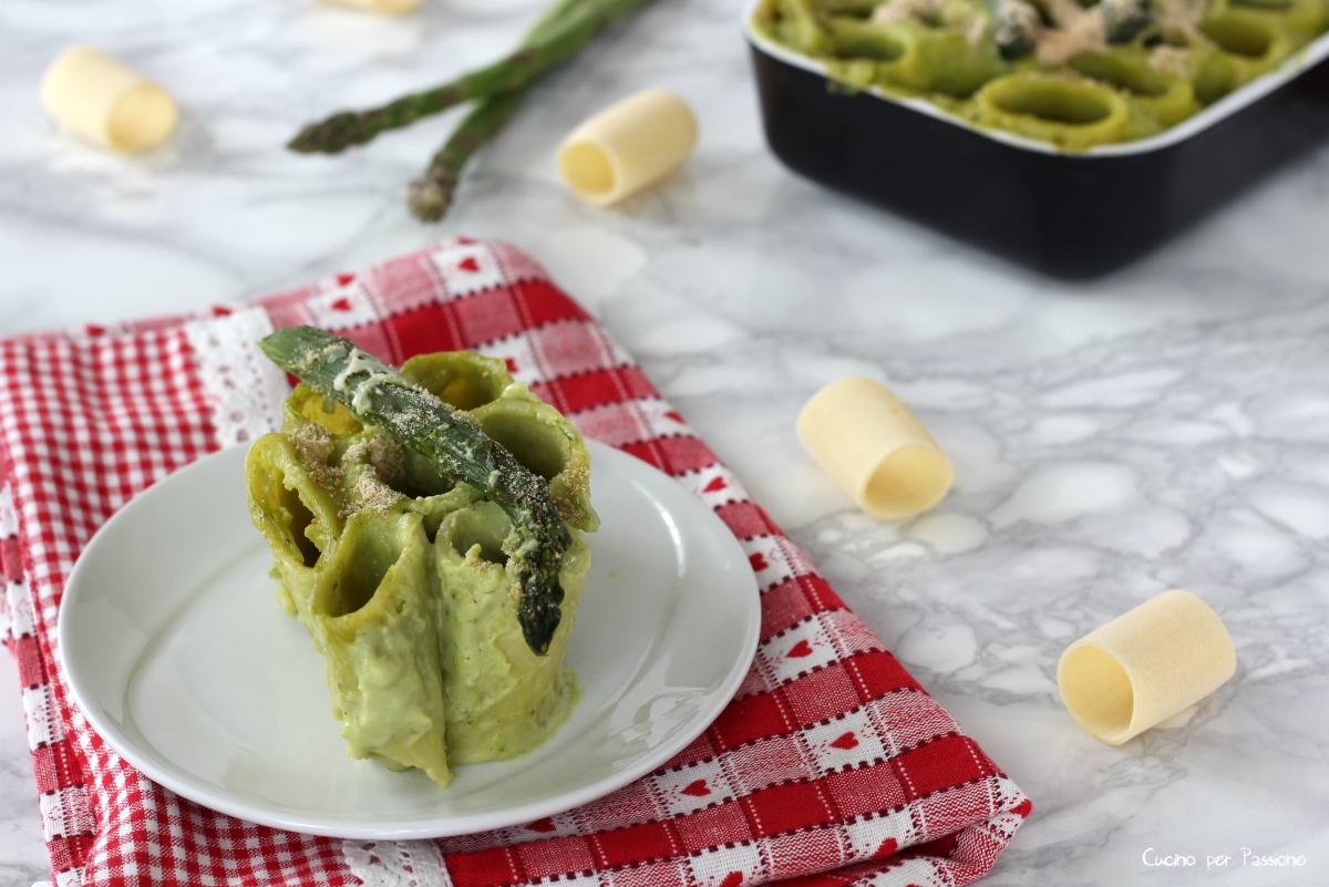 Pasta al forno con asparagi